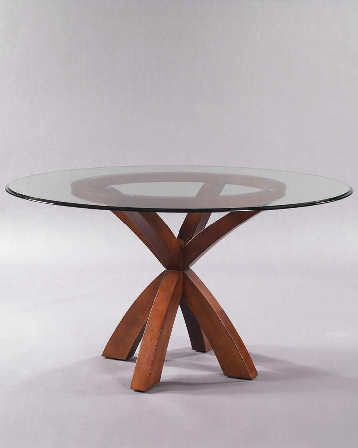 Horchow Glass-Topped Dining Table
