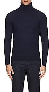 Isaia Men's Bouclé Cashmere Turtleneck Sweater-Navy
