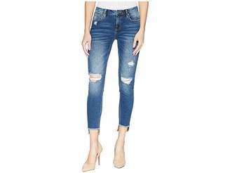Miss Me Five-Pocket Ankle Skinny Jeans in Medium Blue