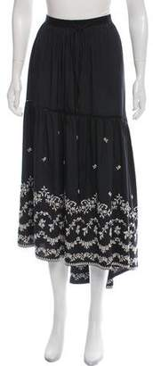 Veronique Branquinho Embroidered Midi Skirt