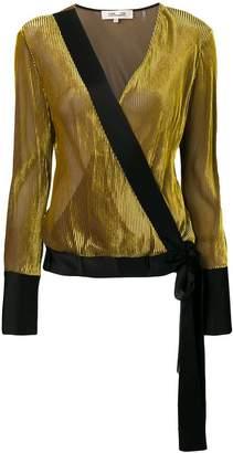 Diane von Furstenberg velvet wrap blouse