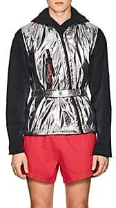 Off-White c/o Art Dad Men's Space Cowboy Belted Mylar Vest - Silver