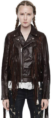 Diesel Black Gold Diesel Leather jackets BGQCB - Brown - 38
