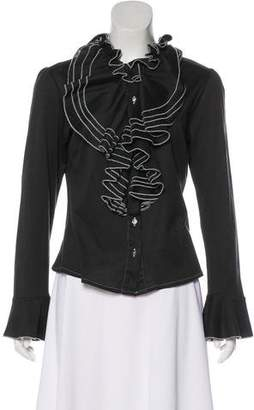 Billy Reid Ruffled Button-Up Blouse