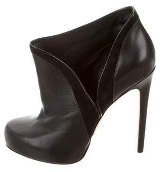 Alejandro Ingelmo Leather Round-Toe Booties