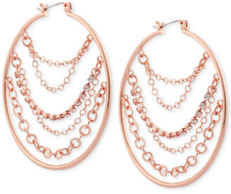 GUESS Gold-Tone Multi-Chain Hoop Earrings