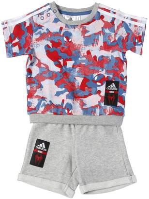 adidas Spiderman Cotton Sweatshirt & Shorts