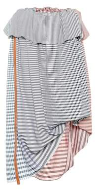Loewe Checked cotton midi skirt