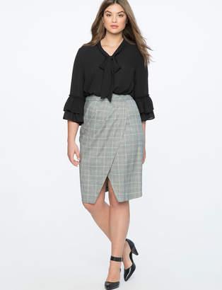 Plaid Tulip Column Skirt