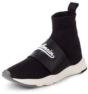 Balmain Cameron Logo Band Sock Sneaker