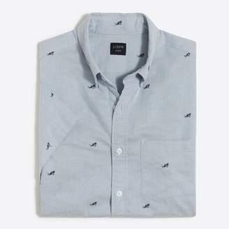 J.Crew Short-sleeve printed oxford shirt