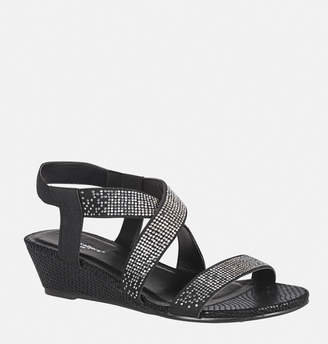 Avenue Natalie Stone Criss Cross Wedge Sandal
