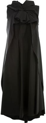 aganovich oversized knot detail dress