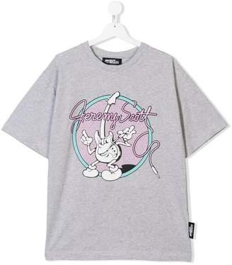 Jeremy Scott Junior TEEN guitar print T-shirt