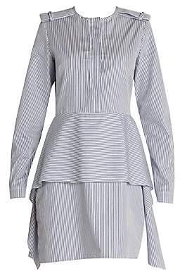 Stella McCartney Women's Organic Cotton Striped Tiered Short Dress