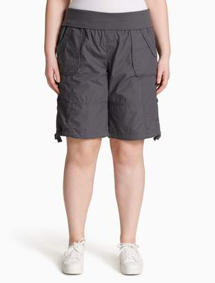 Calvin Klein plus size performance drawstring shorts