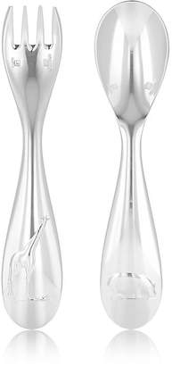 Christofle Savane Silver-Plated Baby Fork & Spoon Set