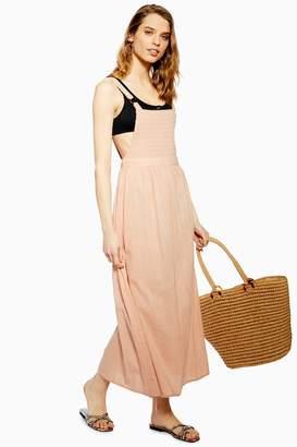 Topshop Shirred Bodice Dress
