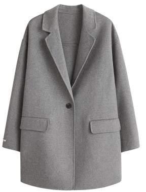 Violeta BY MANGO Wool handmade coat