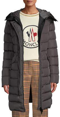 Moncler Grive Long Puffer Coat w/ Hood