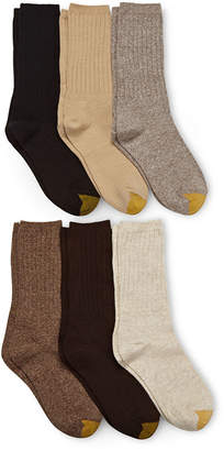 Gold Toe GoldToe 6-pk. Ribbed Crew Socks