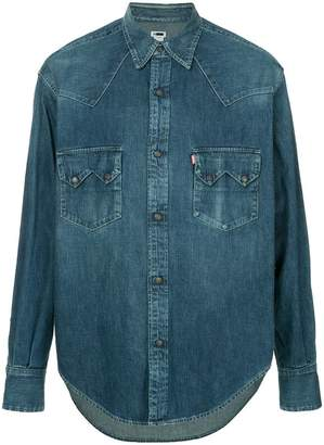 H Beauty&Youth oversized denim shirt
