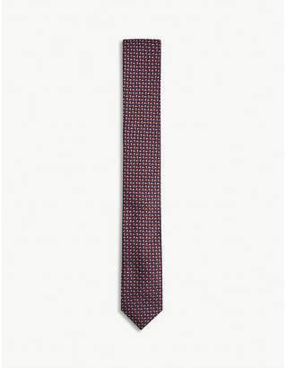 BOSS Tonal fleck pattern silk tie