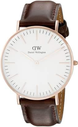 Daniel Wellington Men's Brown/ Leather Watch
