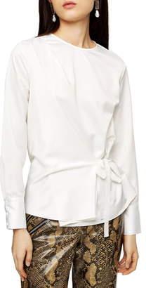 Topshop Side Tie Blouse