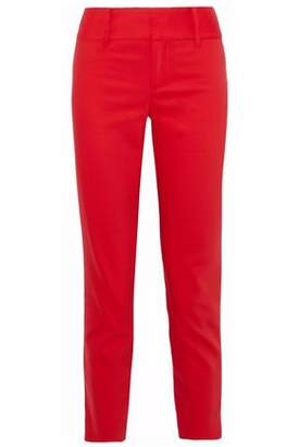 Alice + Olivia Cadence Cropped Cotton-Blend Tapered Pants