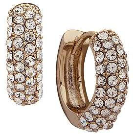 Ralph Lauren Pavé Huggie Hoop Earrings