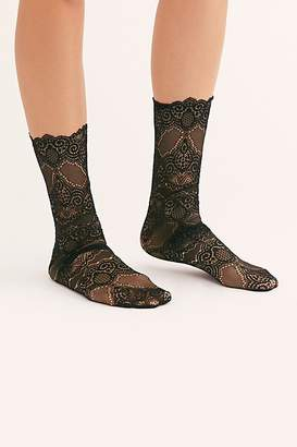 Free People Scalloped Edge Lace Socks by High Heel Jungle at