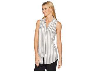 BCBGeneration Back Lace-Up Button Down Tank Top Women's Sleeveless