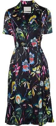 Jason Wu Floral-Print Silk-Georgette Shirt Dress