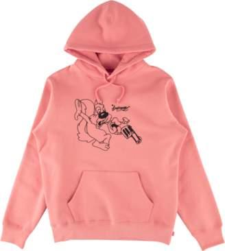 Lee Supreme Hooded Sweatshirt - 'SS 18' - Coral