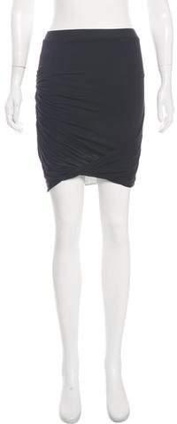 Helmut Lang Asymmetrical Mini Skirt