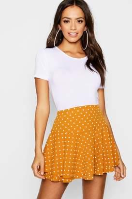 boohoo Polka Dot Double Layer Ruffle Shorts
