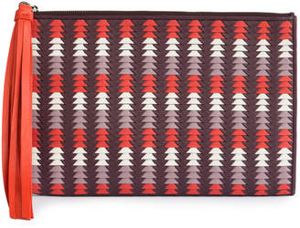 Cooperativa Shop Pantera Red Woven Leather Pouch