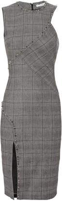 Versace Studded Plaid Dress