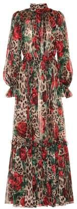 Dolce & Gabbana Printed silk maxi jumpsuit