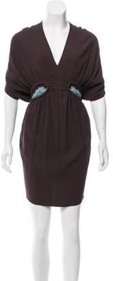 Marni V-Neck Mini Dress