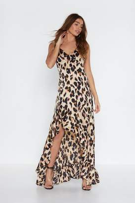 Nasty Gal So Fierce Leopard Maxi Dress