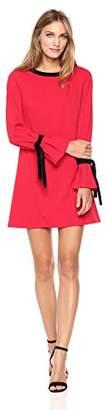 Donna Morgan Women's Easy Ruffle Sleeve Tie Dress