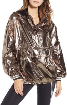 Ivy Park R) Metallic Half Zip Pullover