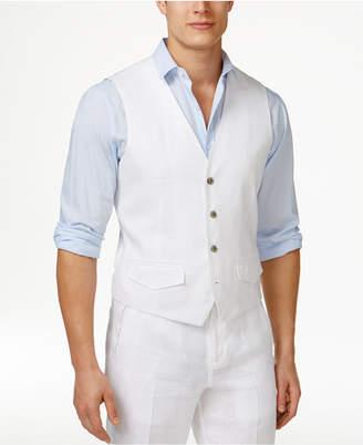 Tasso Elba Men's 100% Linen Vest, Created for Macy's $55 thestylecure.com
