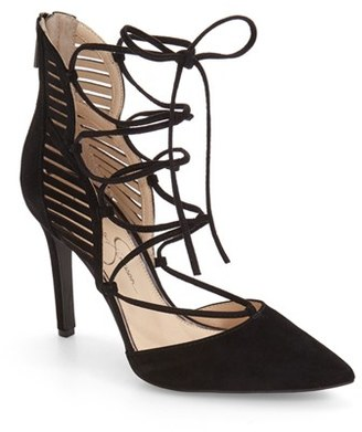Women's Jessica Simpson 'Cynessa' Ghillie Cage Pump $109.95 thestylecure.com