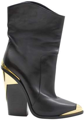 Versace Leather Santiags
