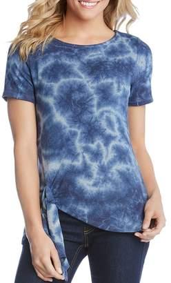 Karen Kane Short-Sleeve Tie-Dye Top
