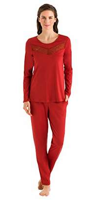 Hanro Women's Liv Long Sleeve Pajama Set