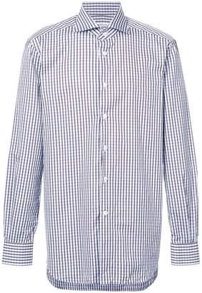 Kiton micro checked shirt